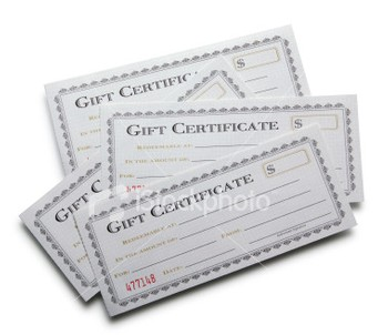 In Store Gift Certificates $30-$100